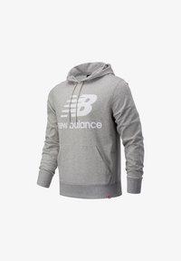 New Balance - NB ESSENTIALS STACKED LOGO PO HOODIE - Hoodie - athletic grey - 0