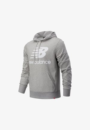 ESSENTIALS STACKED LOGO PO HOODIE - Hoodie - athletic grey