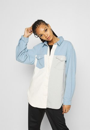 SPLICED MIX OVERSIZED - Button-down blouse - blue
