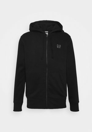 MICRO LOGO - Zip-up hoodie - true black