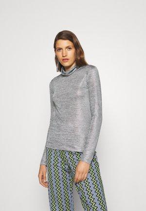 MAGLIA - Long sleeved top - shiny gray melange