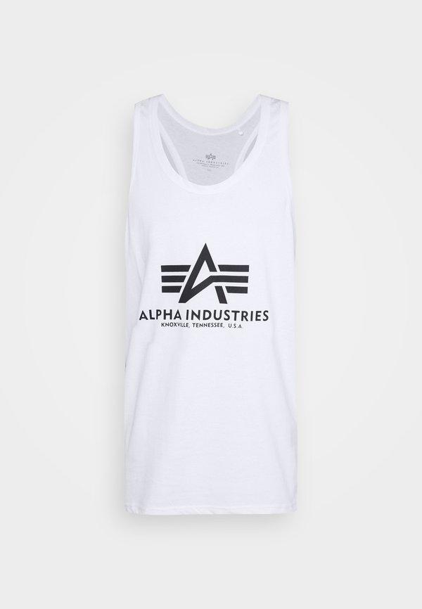 Alpha Industries BASIC TANK - Top - white/biały Odzież Męska CMND