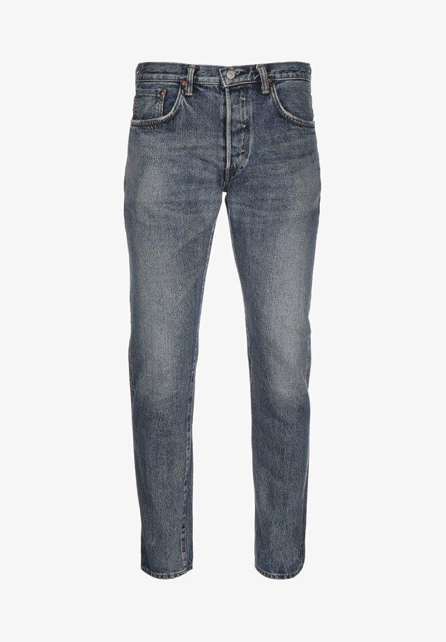 NIHON MENPU OPEN WEAVE - Jeans Tapered Fit - blue light hard used