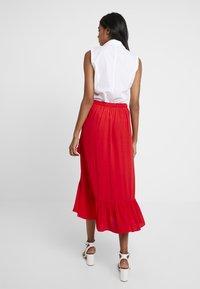 Dorothy Perkins - WRAP MIDI - Wrap skirt - red - 3