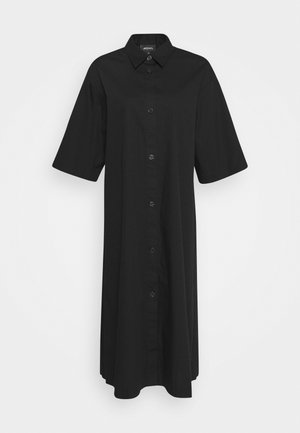 ELIN DRESS - Shirt dress - black dark