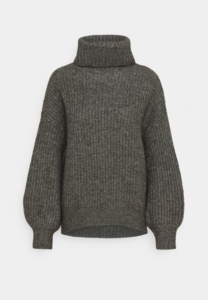 Cosy long line roll neck - Strickpullover - dark grey