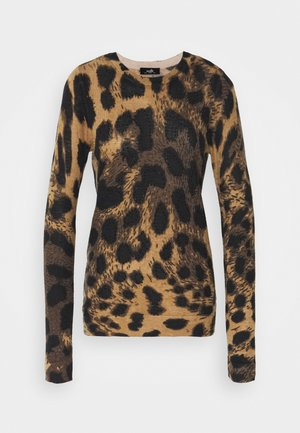 ANIMAL HIGH NECK EMBELLISHED - Jumper - neutral