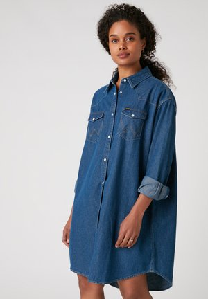 Shirt dress - mid indigo