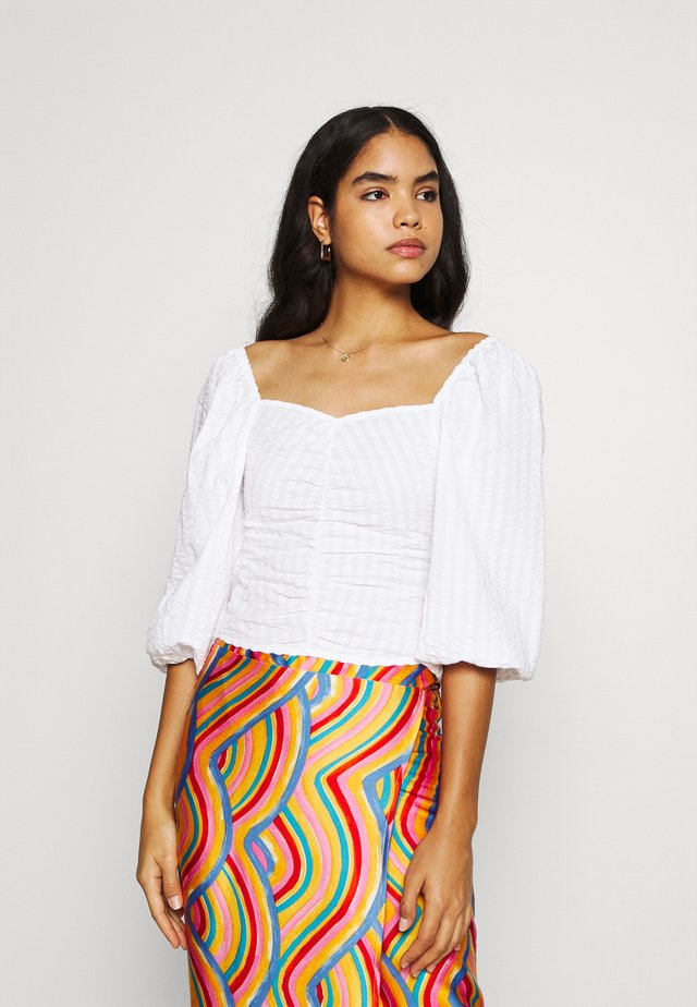 UMA BLOUSE - Blus - white light