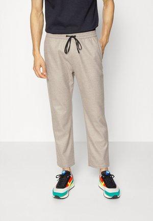 PANT STAIGHT LEG - Pantaloni - beige melange