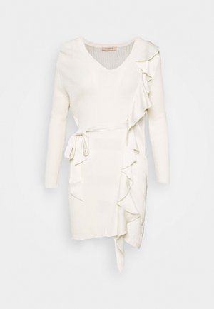 MAGLIA CON ROUCHES - Jumper dress - neve