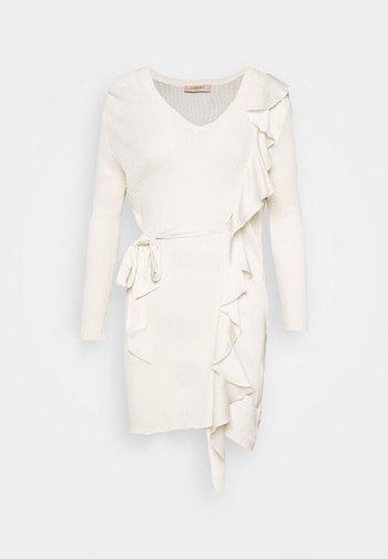 MAGLIA CON ROUCHES - Jumper dress - neve