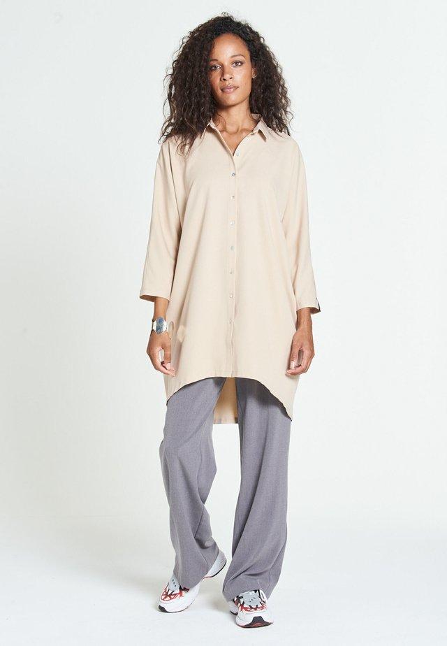 MAROCAIN - Skjortklänning - beige
