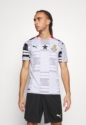 GHANA GFA HOME  - T-shirt med print - white/black