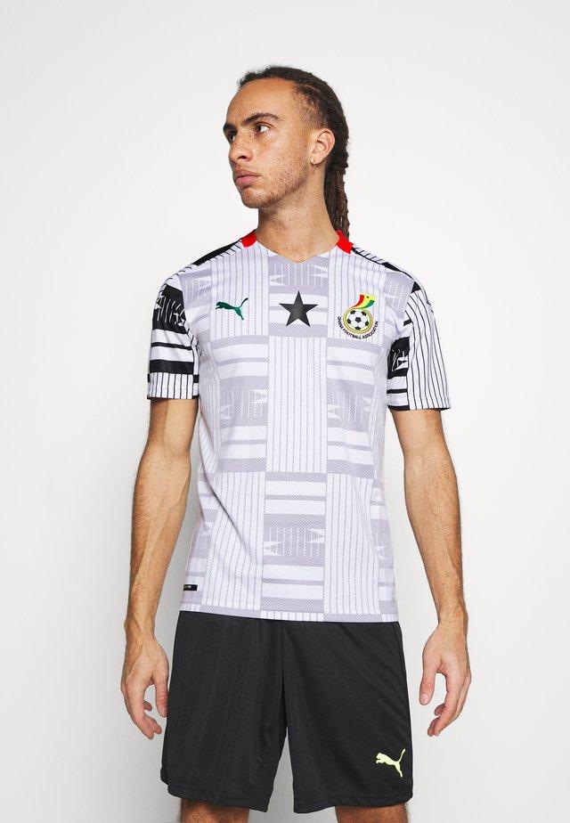 GHANA GFA HOME  - Print T-shirt - white/black