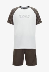 BOSS - TREND SHORT SET - Pyjama set - dark green - 4