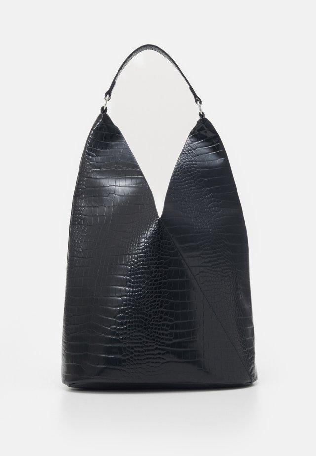 PCCROCIA KEY - Tote bag - black/silver