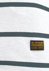 G-Star - CORE EYBEN SLIM - Basic T-shirt - milk/vintage navy - 6