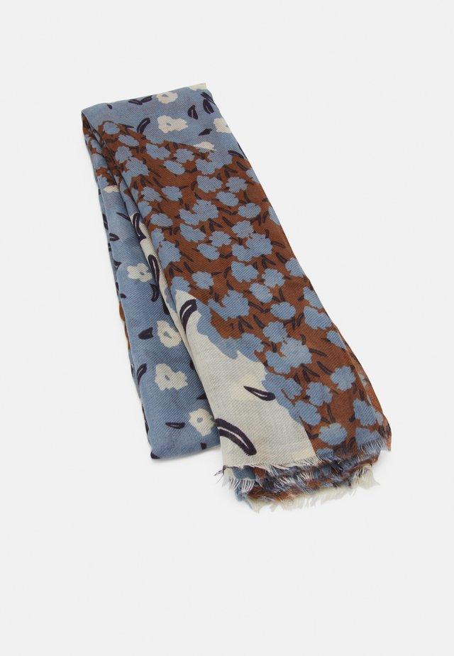 PRINTED SCARF MODERN FLOWERS - Foulard - blue