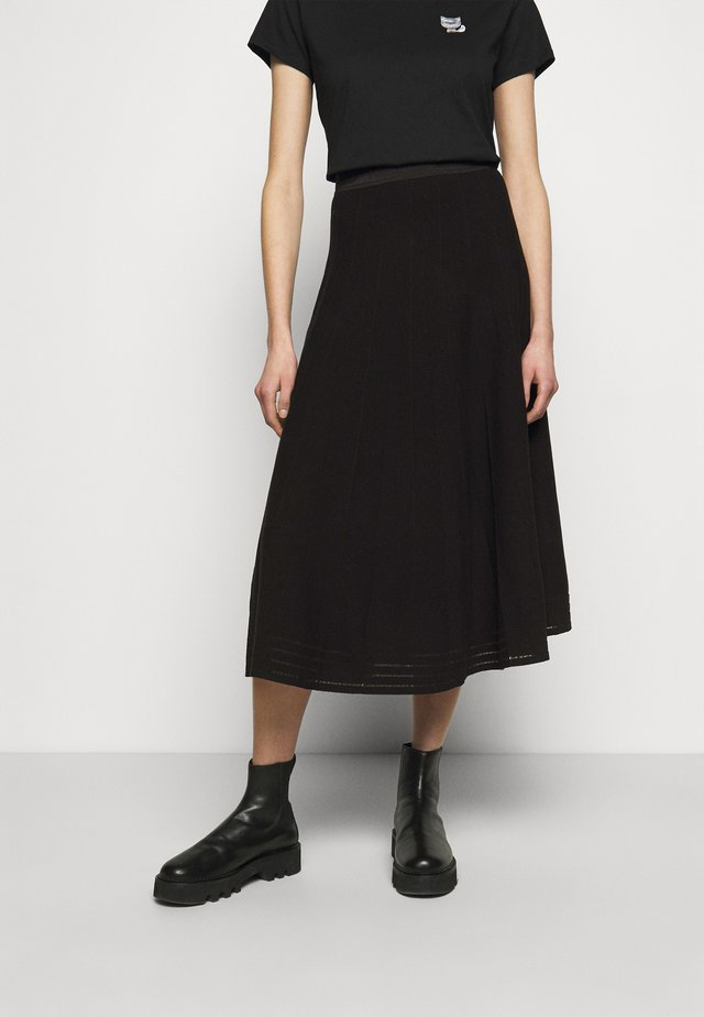 PLEATED SKIRT - A-line skirt - black