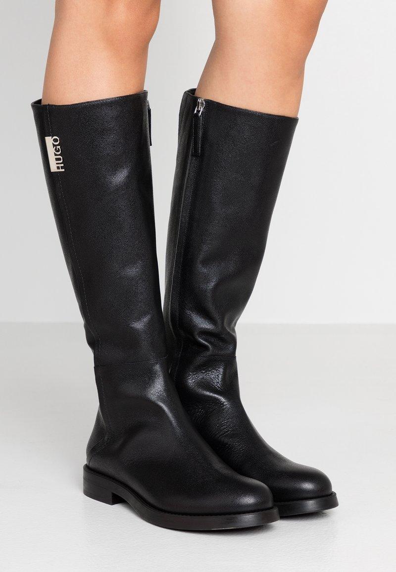 HUGO - VICTORIA FLAT - Boots - black