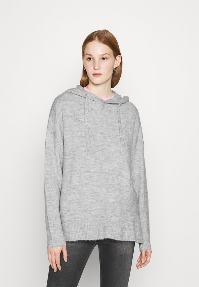 JDYELANOR HOOD - Sweter - light grey melange