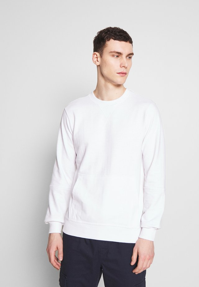 CREW NECK WITH POCKET - Sweatshirt - white
