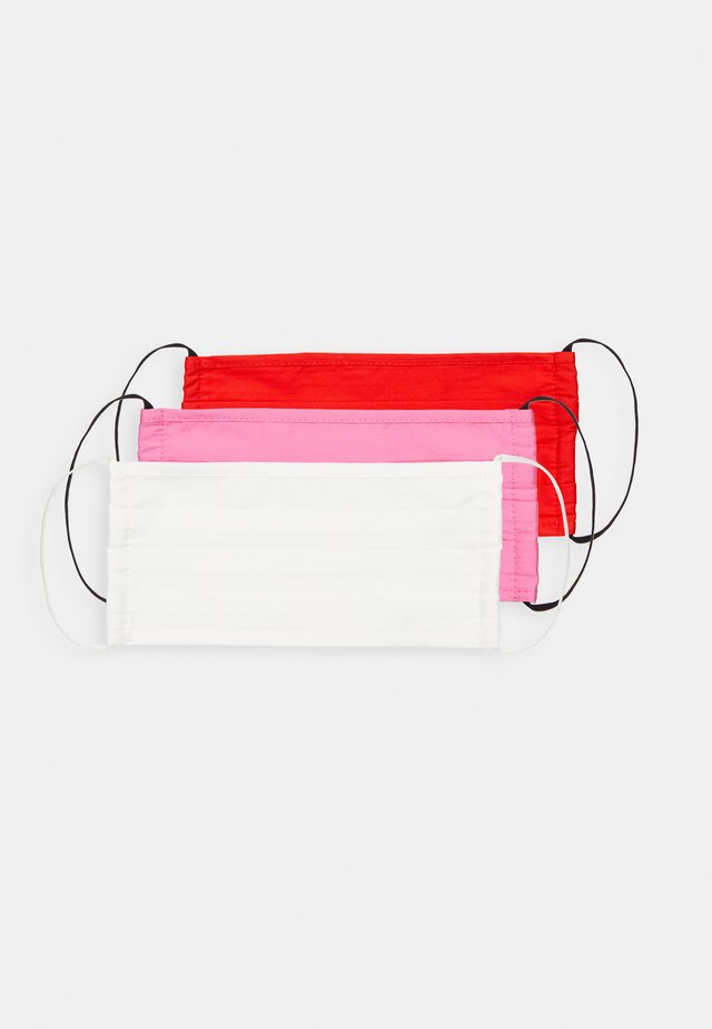 3 PACK - Kasvomaski - red/pink /white