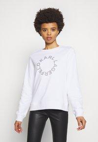 KARL LAGERFELD - CIRCLE LOGO - Sweatshirt - white - 0