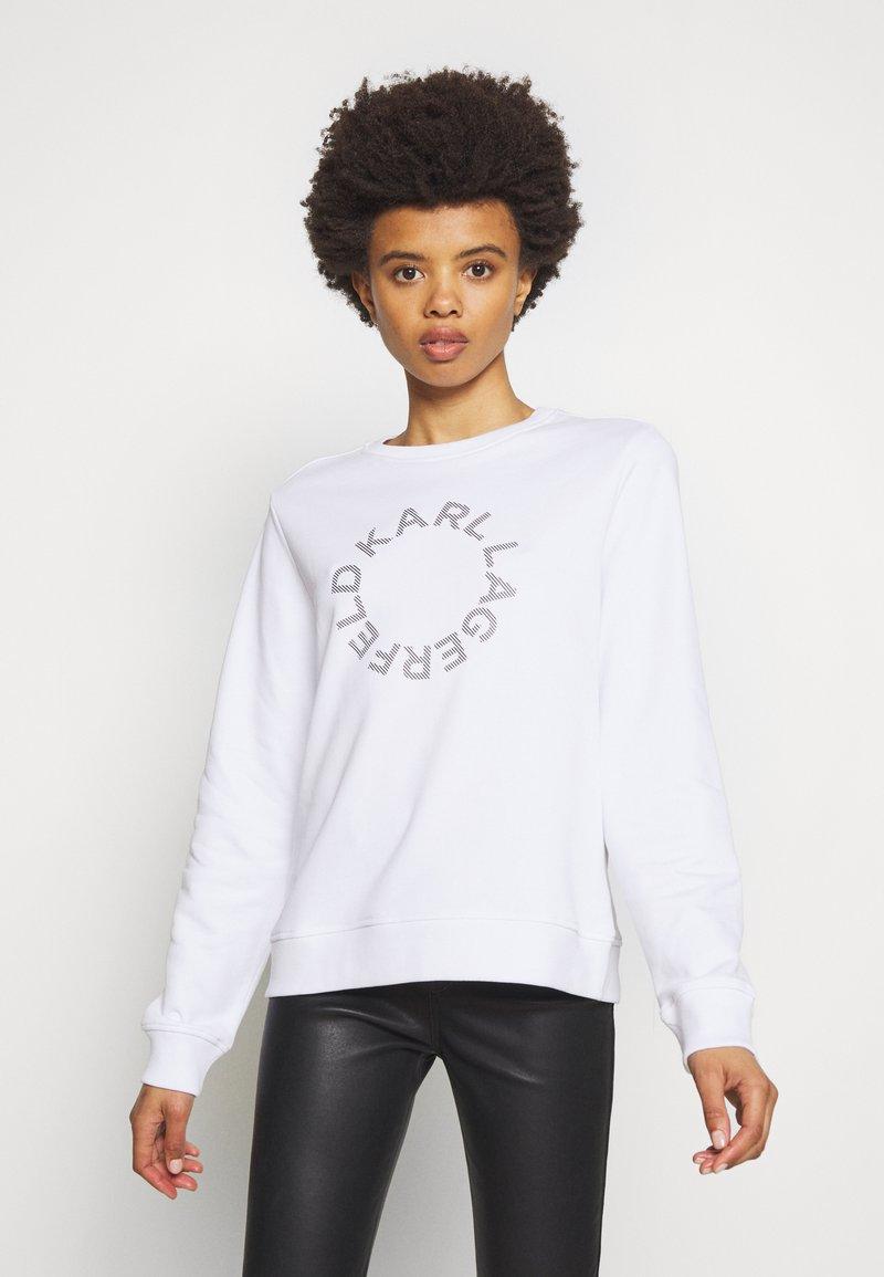 KARL LAGERFELD - CIRCLE LOGO - Sweatshirt - white