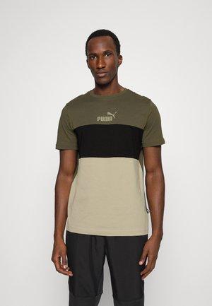 COLORBLOCK TEE - Print T-shirt - grape leaf