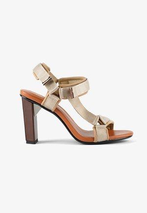 AURA - High heeled sandals - toffee