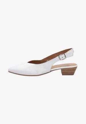 TAMARIS FASHION SLING - Baleríny s páskem - white