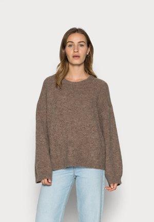Pullover - brown melange