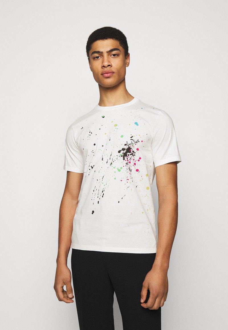 Paul Smith - GENTS PAINT SPLATTER UNISEX - Print T-shirt - white