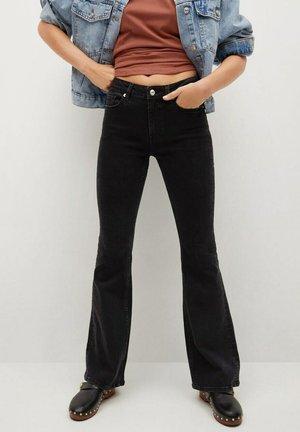 FLARE - Flared Jeans - black denim