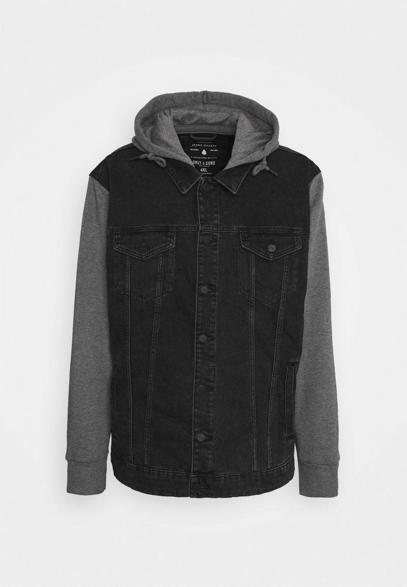 Only & Sons - ONSCOIN HOOD TRUCK  - Denim jacket - black denim