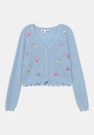 AUDREY FLORAL - Cardigan - white/water blue