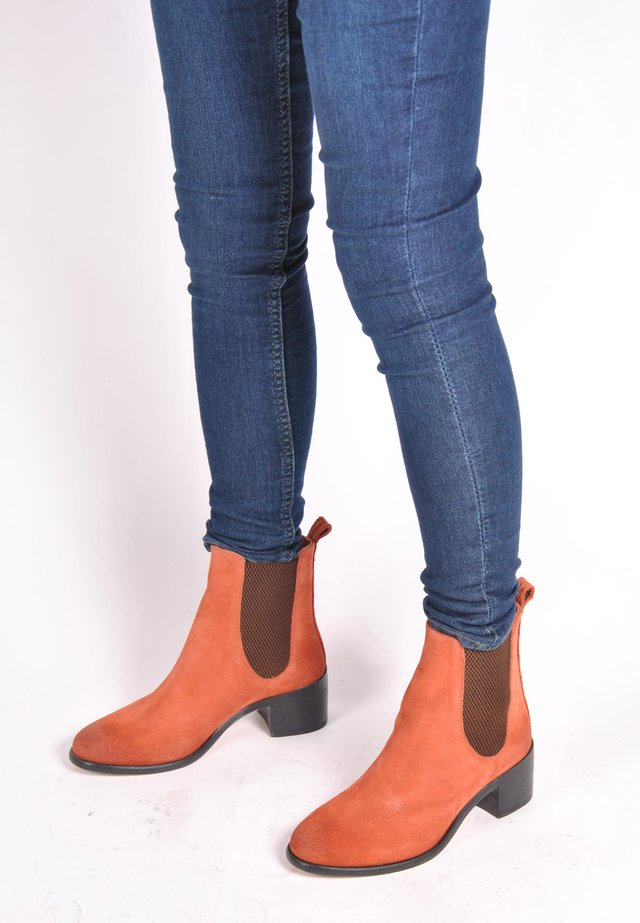 STIEFELETTE RAHEL STIEFELETTE - Ankle boots - rotbraun