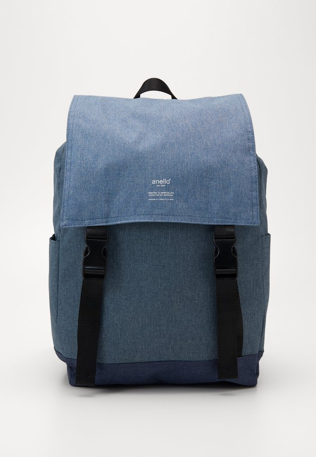 SLIM FLAP BACKPACK UNISEX - Rugzak - denimblock