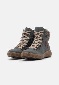 Rieker - Winter boots - jeans/terra/wine - 2