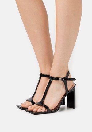 DONNA WOMANS  - High heeled sandals - black