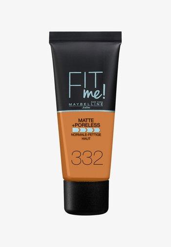 FIT ME MATTE & PORELESS MAKE-UP - Foundation - 332 golden caramel