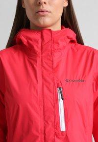 Columbia - POURING ADVENTURE JACKET - Hardshell jacket - red camellia/white - 2