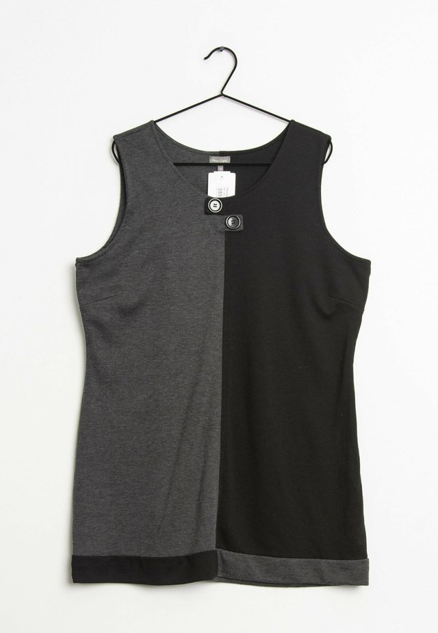 Korte jurk - dark grey black