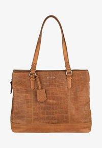 Burkely - CROCO CAIA  - Handbag - cognac - 0