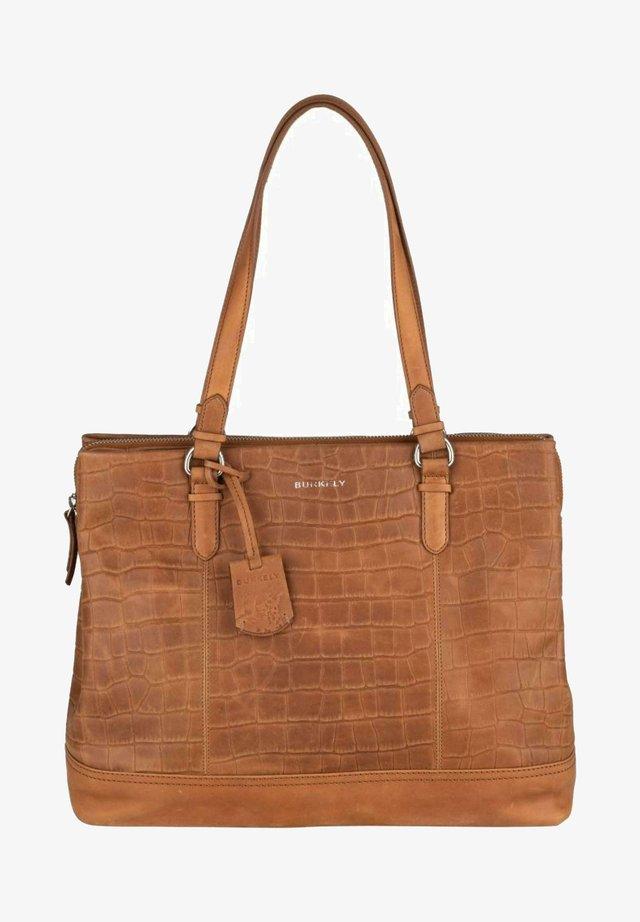 CROCO CAIA  - Handbag - cognac