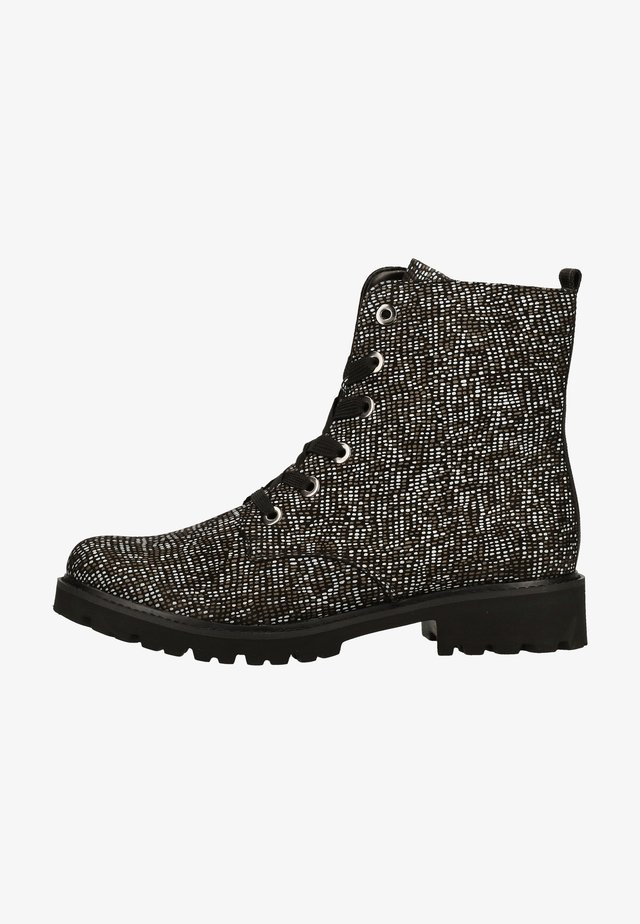 Classic ankle boots - schwarz/weiss-bronze