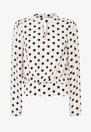 PRINT ELASTIC BACK LONG SLEEVE - Blouse - blush
