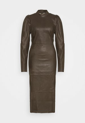 VILEA DRESS - Shift dress - dark olive